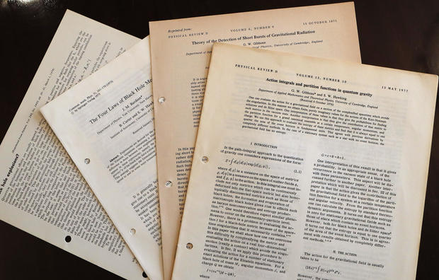 Stephen Hawking's thesis and wheelchair sell for US$1 million