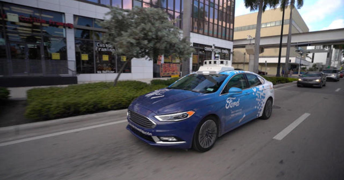 Ford is testing self-driving cars in Miami for delivery of items like diapers and groceries