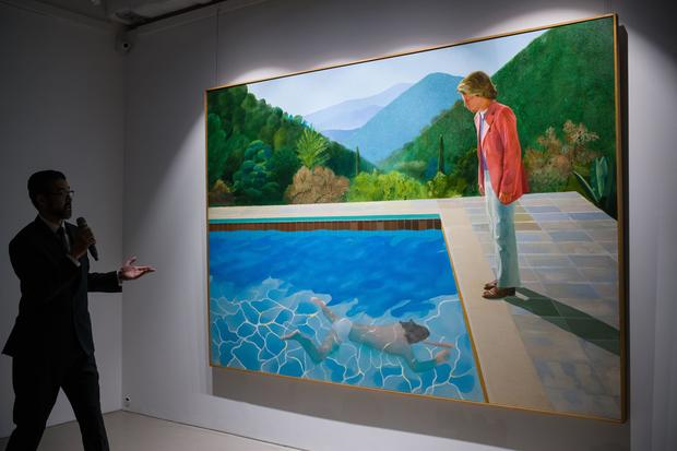 David Hockney painting fetches record $90M at NY auction