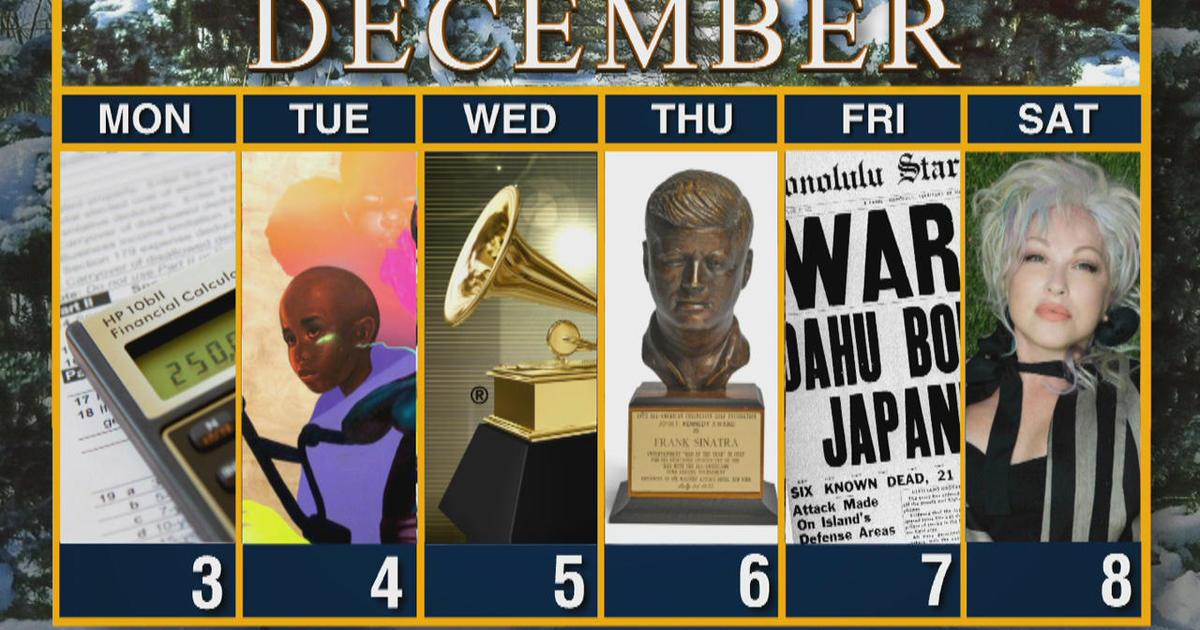 Calendar: Week of December 3