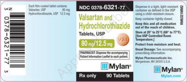 Mylan recalls blood pressure drugs that contain Valsartan