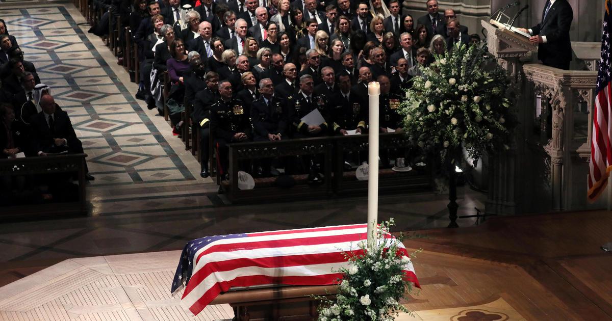 Bush funeral: Watch video of President George H  W  Bush's funeral