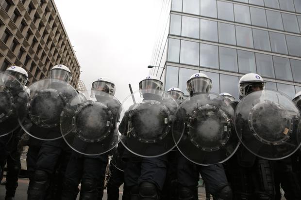 BELGIUM-FRANCE-POLITICS-PROTEST