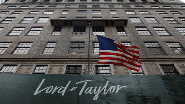 Lord & Taylor flagship store building is seen along Fifth Avenue in New York City