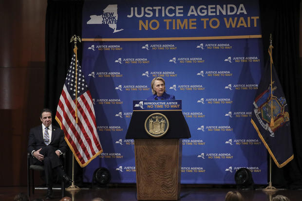 Andrew Cuomo, Hillary Clinton abortion rights