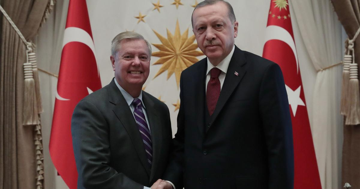 Graham in Turkey after criticizing Trump's Syria withdrawal plans