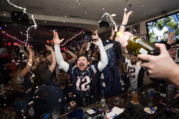 Boston Area Football Fans Gather Watch Super Bowl LIII, The New England Patriots vs The Los Angeles Rams