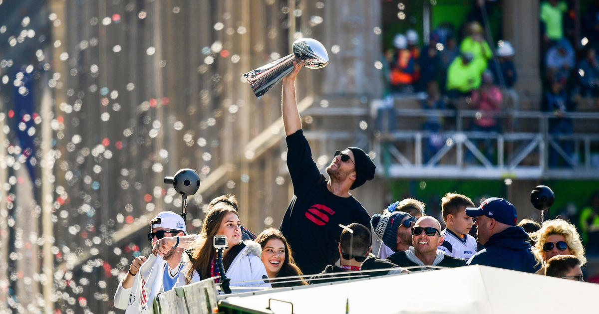 Patriots parade today  The New England Patriots celebrate 6th Super Bowl  win with a Duck Boat parade through streets of Boston — live updates - CBS  News fe41236ab