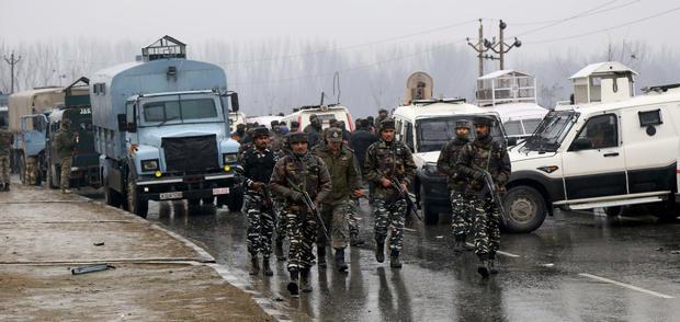 Terrorist Attack On CRPF Convoy In Pulwama, Kashmir