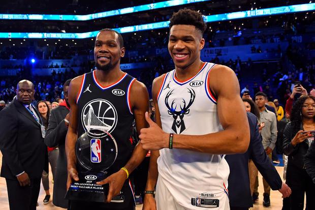 2019 NBA All Star Game — Kevin Durant, Giannis Antetokounmpo
