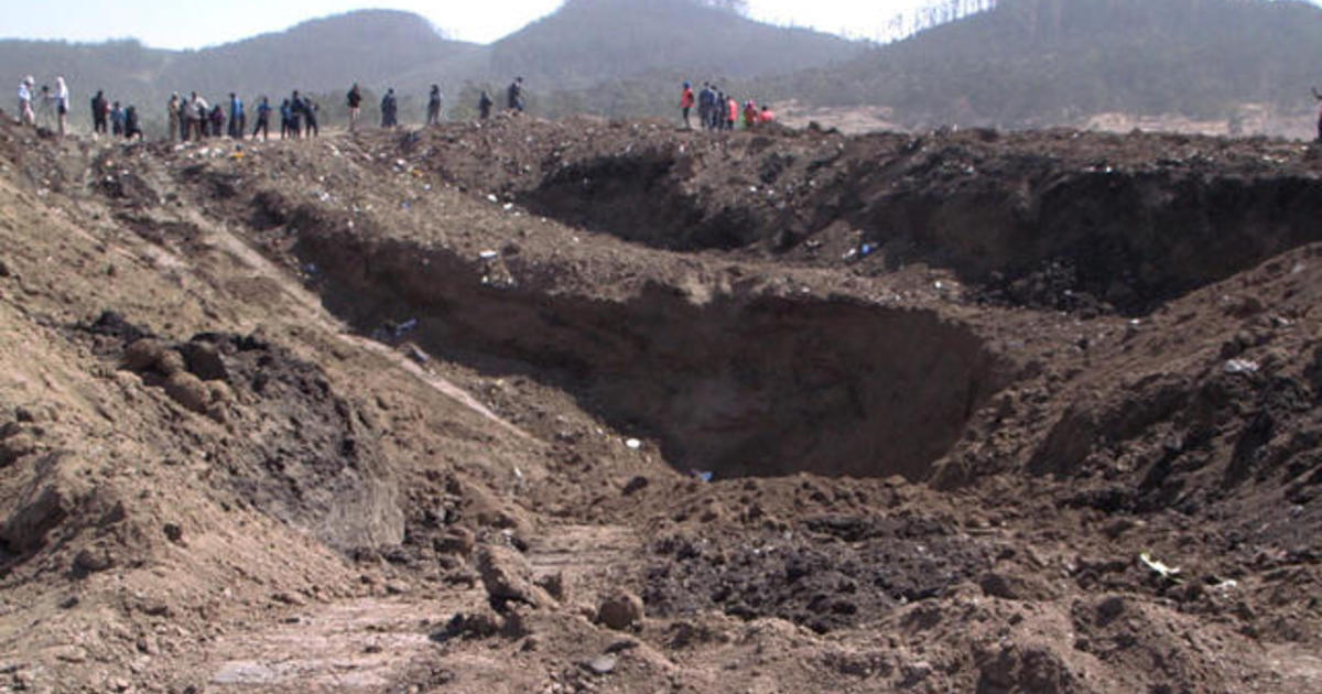 Ethiopian Airlines Crash Huge Crater Shows Powerful