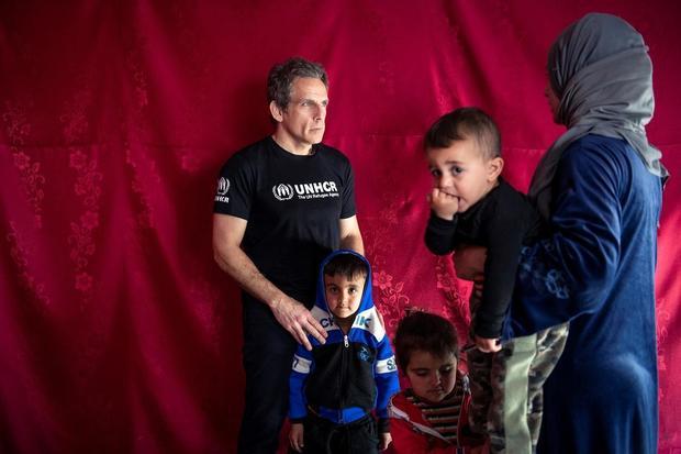 Lebanon. UNHCR Goodwill Ambassador Ben Stiller meets Syrian refugees