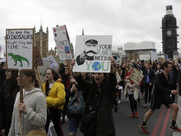Britain Climate Student Protests
