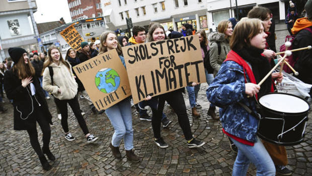 Sweden Climate Students Protests