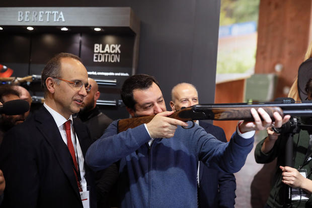 Gun Enthusiasts And Vendors Attend HIT Trade Show In Vicenza, Italy