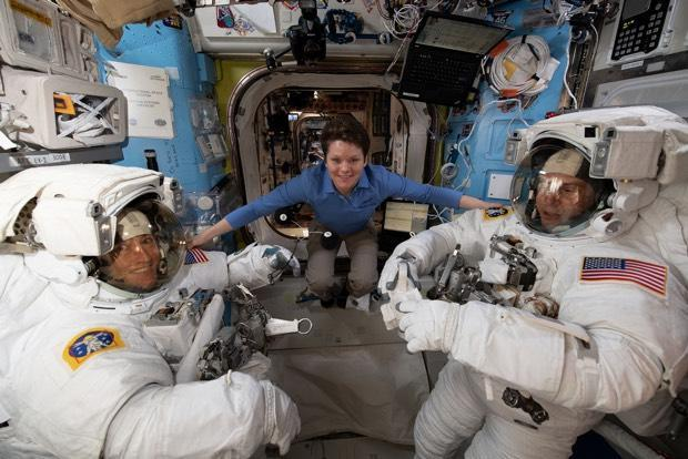 Astronauts outside ISS for first spacewalk of 2019