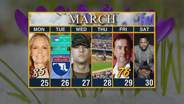 Calendar: Week of March 25