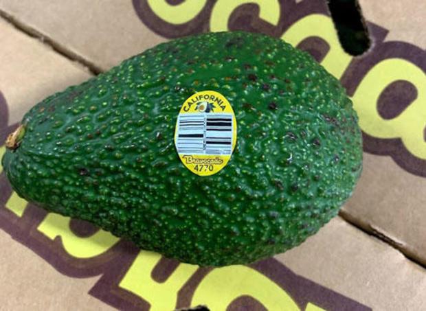 Bravocado sticker on recalled avocado