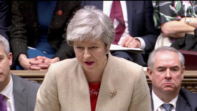 Britain's Prime Minister Theresa May speaks in the Parliament in London