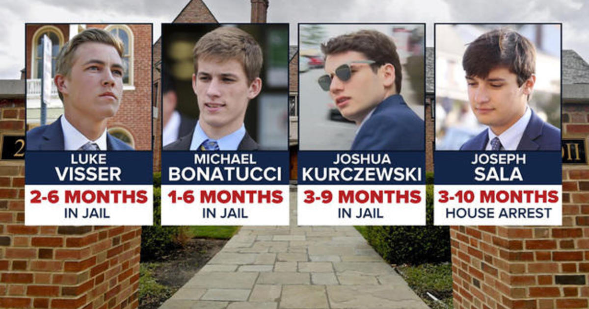 Judge hands out first jail sentences in hazing death of Penn State student  Timothy Piazza