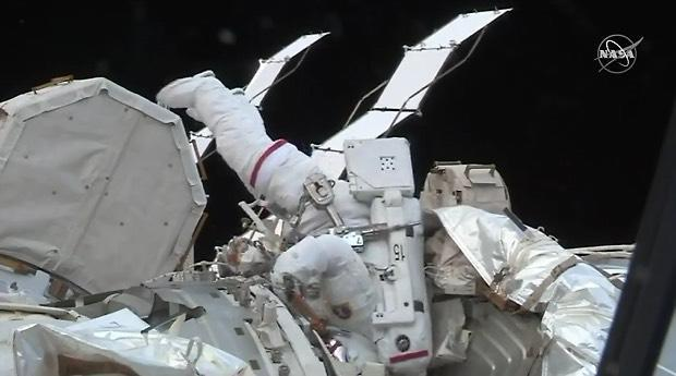 ISS spacewalk: Astronauts try to fix battery problem, run cables outside International Space Station