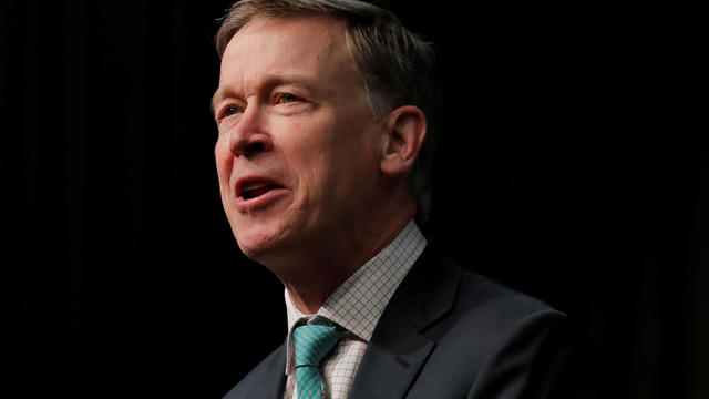 U.S. 2020 Democratic presidential candidate and former Governor of Colorado John Hickenlooper speaks at the 2019 National Action Network National Convention in New York