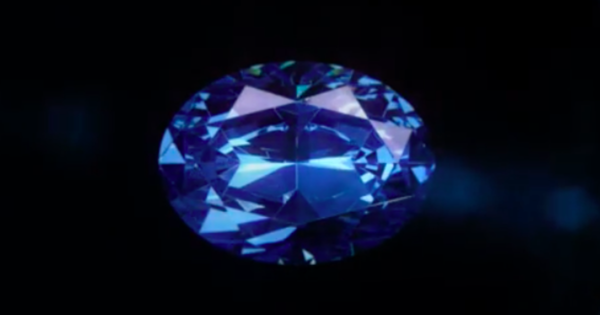 5c42980293 Rare 20-carat blue diamond just unveiled, graded higher in clarity than the  Hope Diamond - CBS News