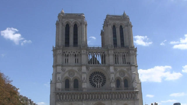 94192baa Notre Dame Cathedral fire - CBS News
