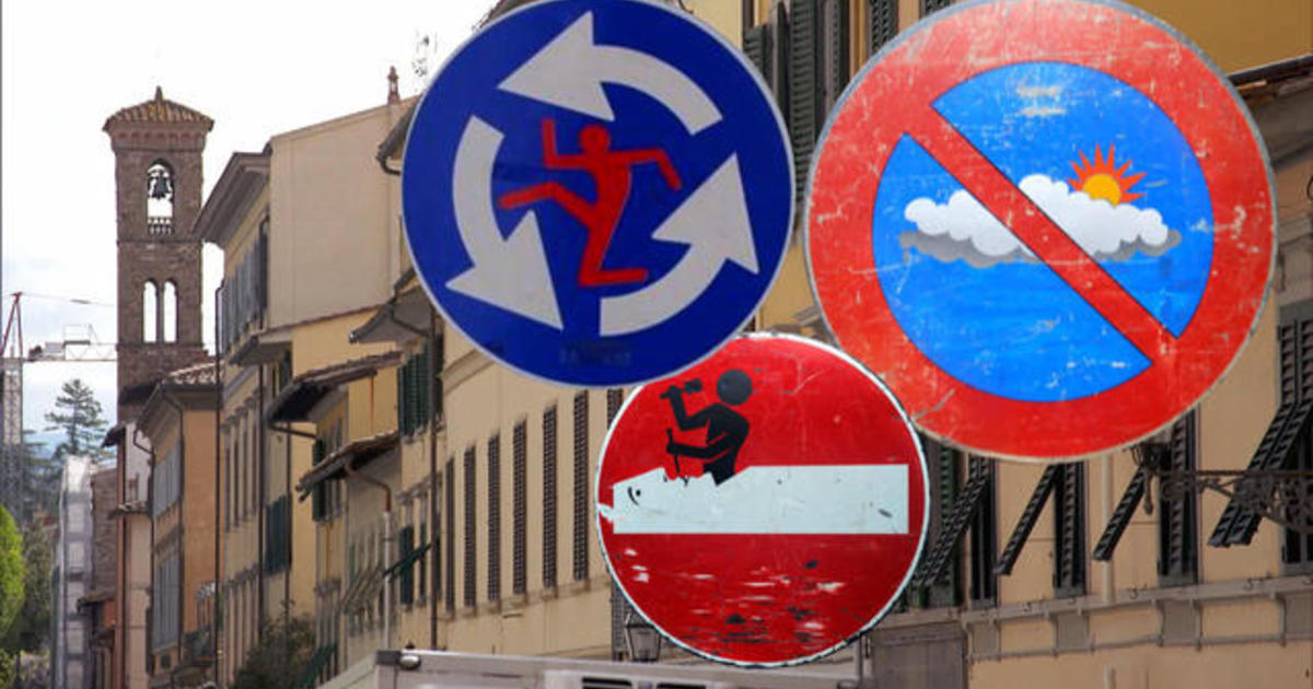 Turning street signs into art