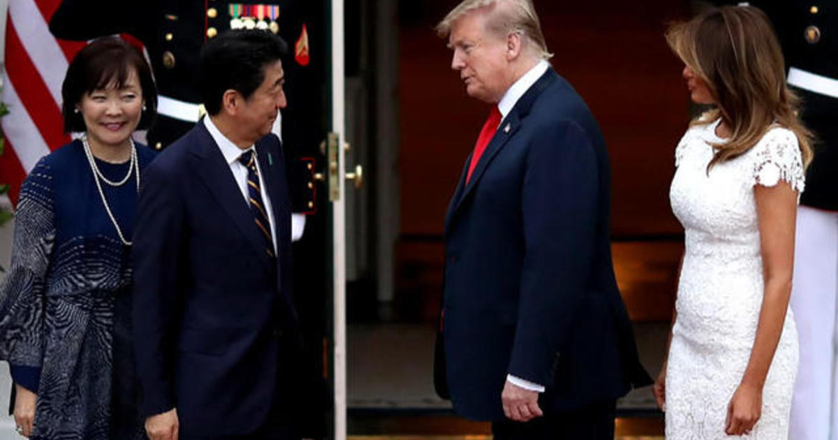 President Trump arrives in Japan for trade talks