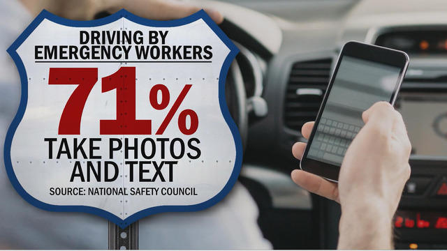 Distracted driving study by AAA shows older drivers