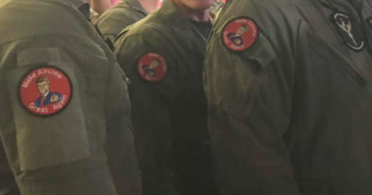 Troops wore MAGA-inspired patches at Trump speech