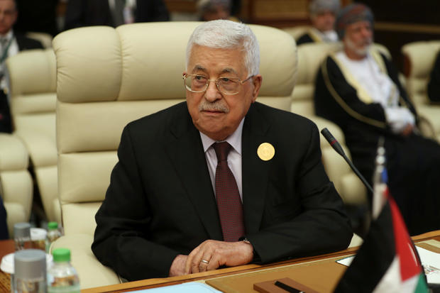 Palestinian President Mahmoud Abbas attends the Arab summit in Mecca