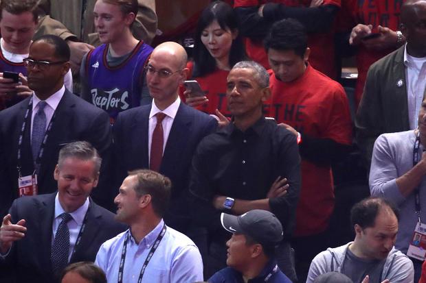 NBA Commissioner Adam Silver, Barack Obama