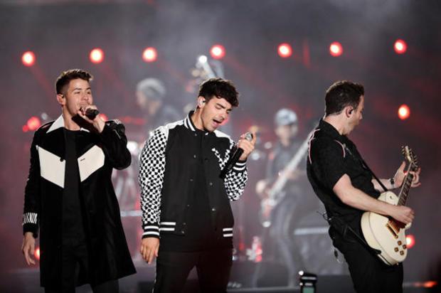 Jonas Brothers perform at the iHeartRadio Wango Tango concert in Carson