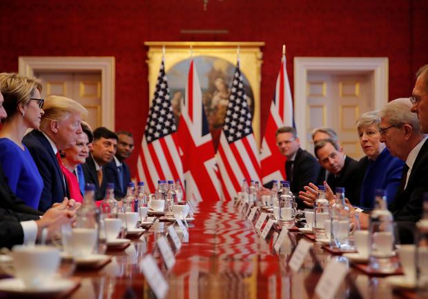 U.S. President Donald Trump visits Britain