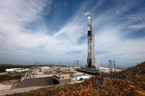 SpaceX launches rocket from Vandenberg Air Force Base in California