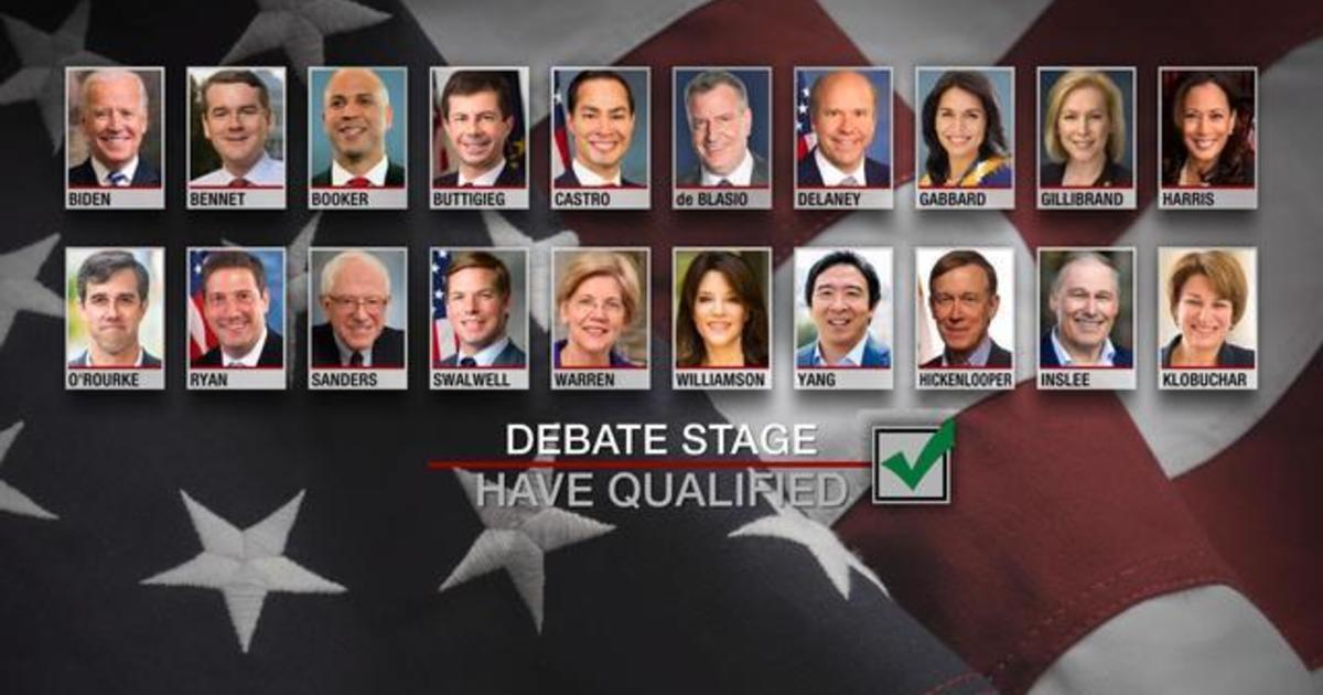 How the candidates in the first Democratic presidential ...