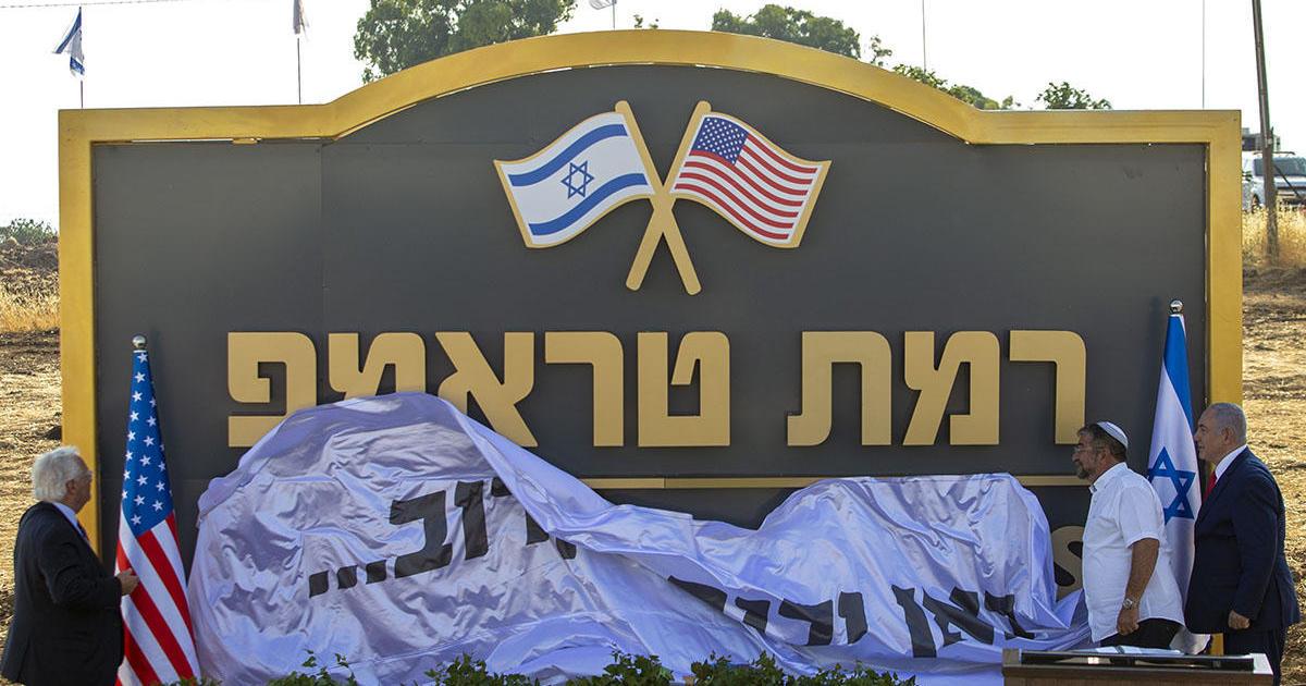 Israel renames Golan Heights town