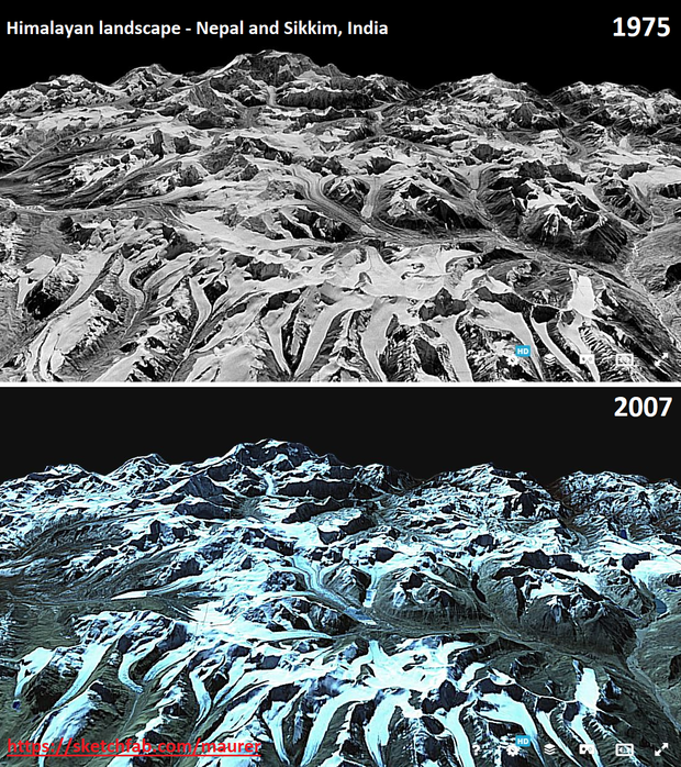 Cold War Era Satellite Images Reveal Acceleration of Asian Glacier Melt