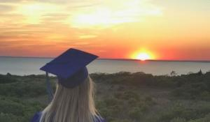 The last and only student graduates from a remote island school