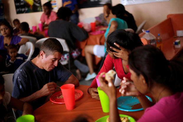 Central American migrants are seen at a migrant shelter in Ciudad Juarez