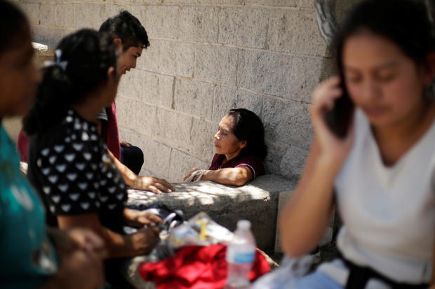 Central American migrants return to Mexico from the United States to await their court hearing for asylum seekers as part of the legal proceedings under a new policy established by the U.S. government, in Ciudad Juarez