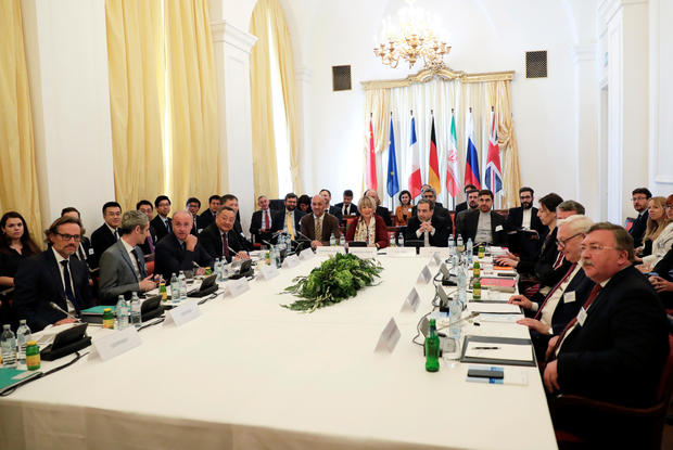 Iran's top nuclear negotiator Araqchi and EEAS Schmit attend a meeting in Vienna