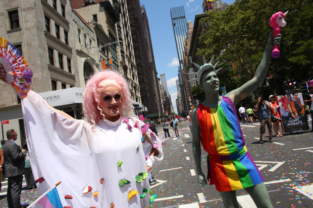 Thousands Flock To Annual Pride March  In New York City