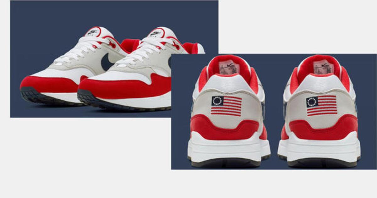 pull Betsy Ross flag shoe