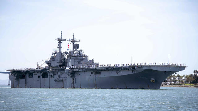 Iran Revolutionary Guard reportedly monitors USS Dwight D