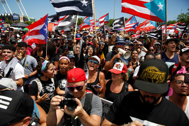 Puerto Rican protesters