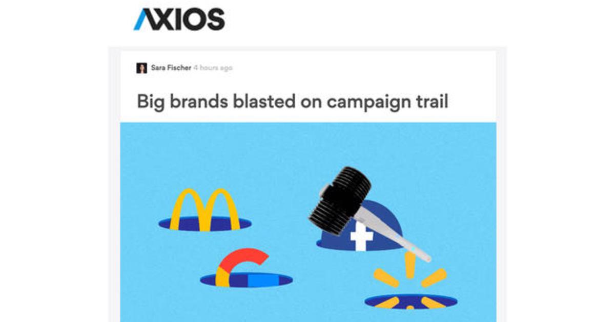 2020 presidential candidates target big brands - CBS News