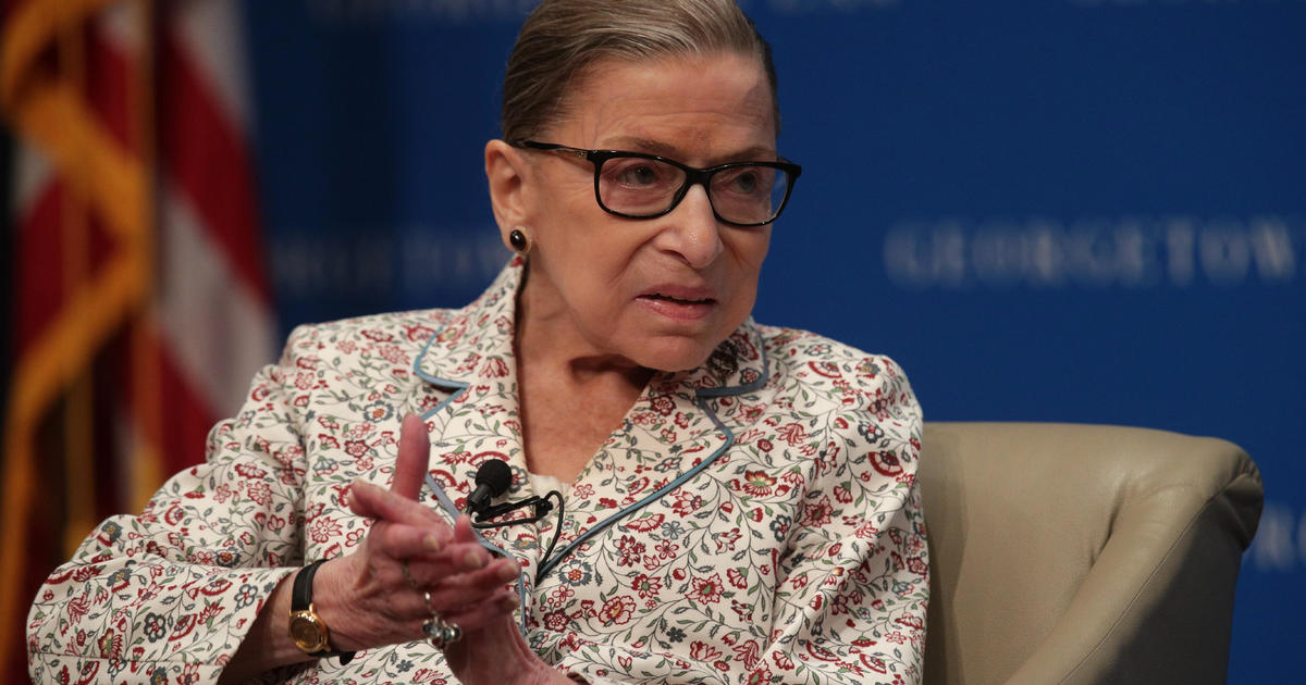 "Ginsburg hospitalized with ""benign gallbladder condition"" thumbnail"